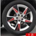1 conjunto para Chevrolet TRAX (4 pneus 18 polegada) cubo da roda Do Carro Etiqueta do carro Personalizado adesivos de fibra de Carbono