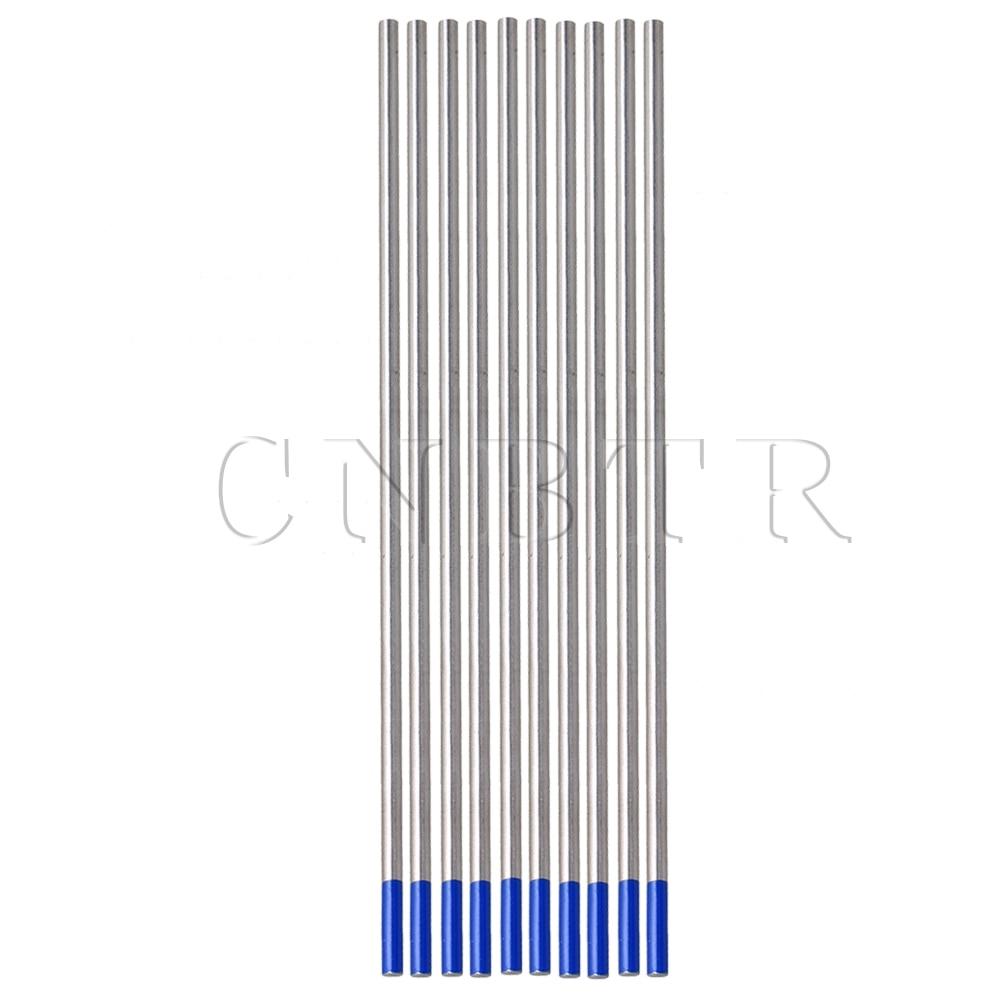 CNBTR 10x Tig Tungsten 3 2 x 150mm 2 Lanthanated Tungsten Welding Electrode Blue Tip