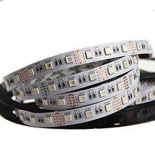 СВЕТОДИОДНЫЕ Полосы Света RGBW 5 М 4 Цвета в 1 LED DC 12/24 В SMD 5050 RGB + Белый/Теплый Белый Гибкий огни