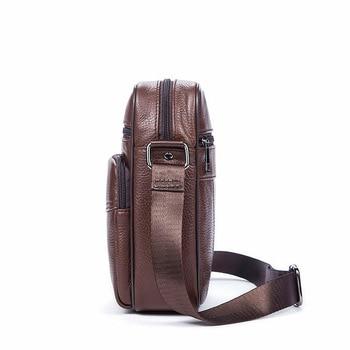 сумка через плечо | 2019 мужские сумки, первый слой, натуральная кожа, на одно плечо и через плечо, сумка-Органайзер, сумка-мессенджер для путешествий, Мужская Нов...