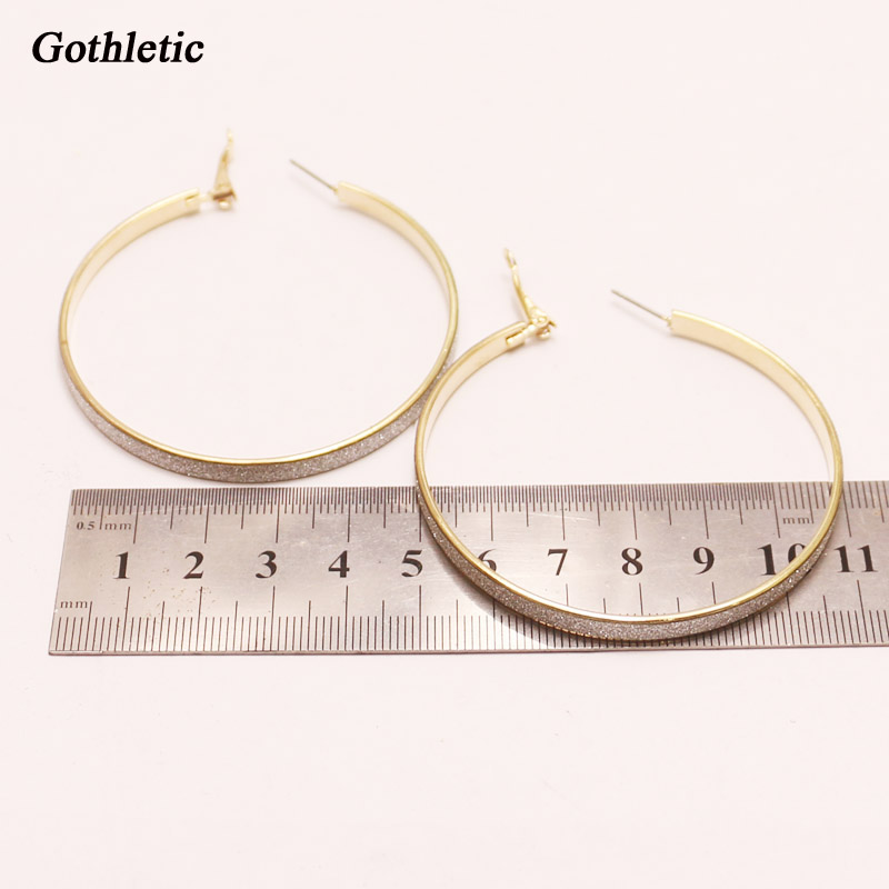 Gothletic Fashion Gold color Textured Glitter Paper Metal Circle