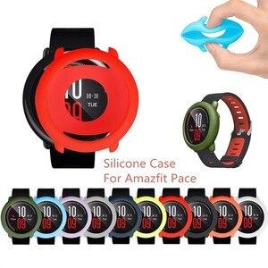 Image 1 - ケースカバーシェルシリコーンフレーム保護xiaomi huami amazfitペース腕時計スマートウォッチ交換アクセサリー