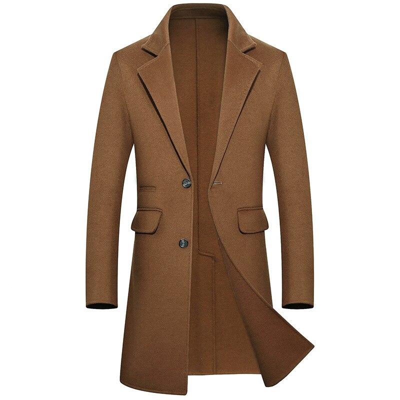 100% Echt Merino Wolle Männer Winter Jacke Dicke Warme Lange Jacke Mantel Slim Fit Casual Woolen Blends Mäntel Sobretudo Masculino Phantasie Farben
