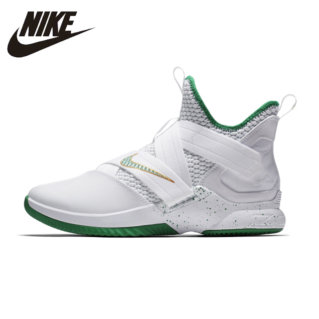 pretty nice d1d56 22dfc Nike Lebron Soldier XII EP Original Breathable 2018 New Arrival Support  Sports Low Basketball shoes For Men s Shoes  AO4053-100