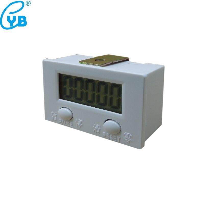 BIlinli Compteur de poin/çon /électronique LCD /à 5 Chiffres Digital avec Bouton de r/éinitialisation et de Pause du Micro-commutateur