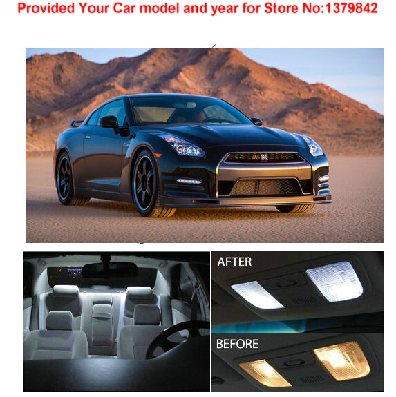 Free Shipping 4Pcs/Lot car-styling Xenon White Package Kit LED Interior Lights For Nissan GT-R 2009 & Up