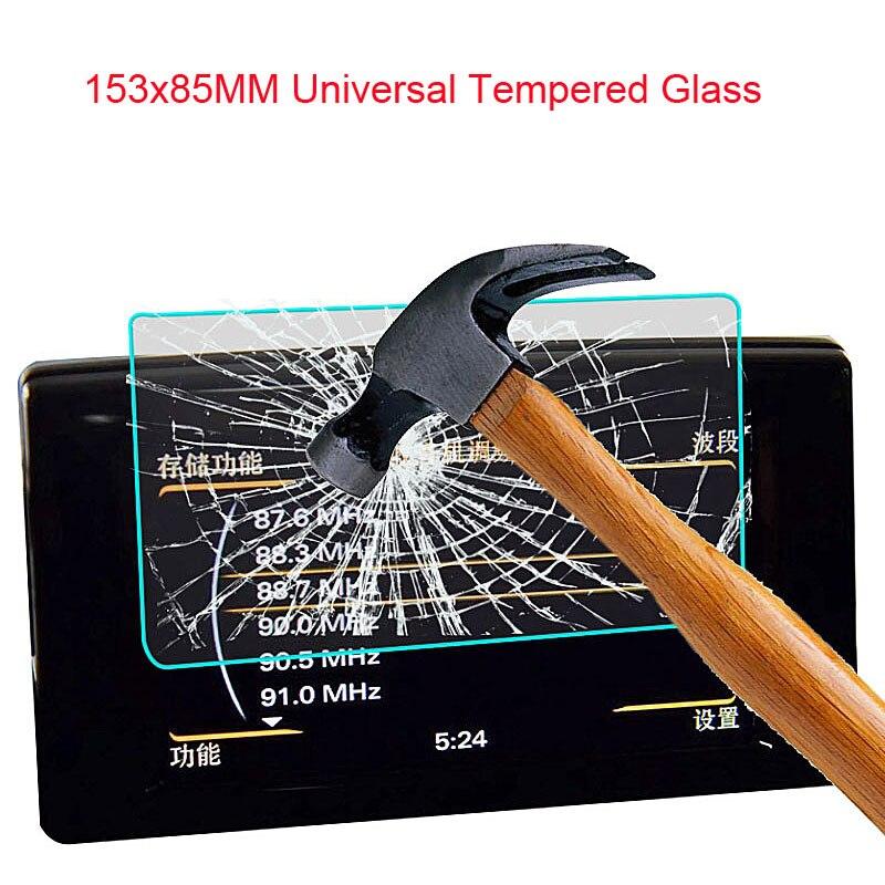Prime En Verre Trempé Garde LCD 153*85 pour WeCooL BDF Irulu tablet voiture DVD GPS PDA MP4 Vidéo 9 H Trempé Protecteur D'écran En Verre