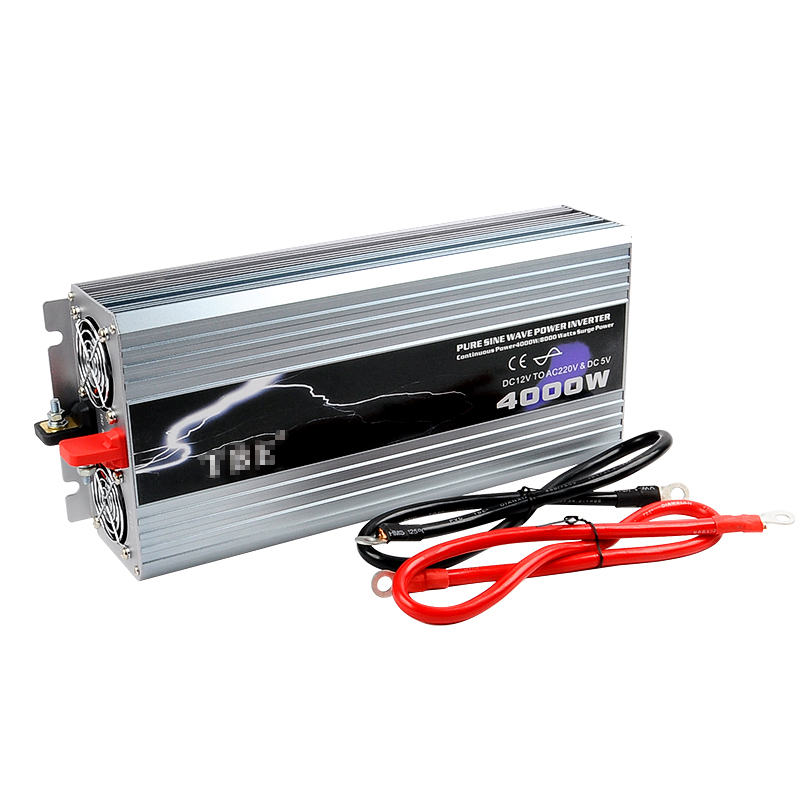 цена на Power Inverter 4000W Pure Sine Wave Inverter DC 12V/24V/48V to AC 110/220V Car Converter Solar Power Inverter Peak Power 8000W