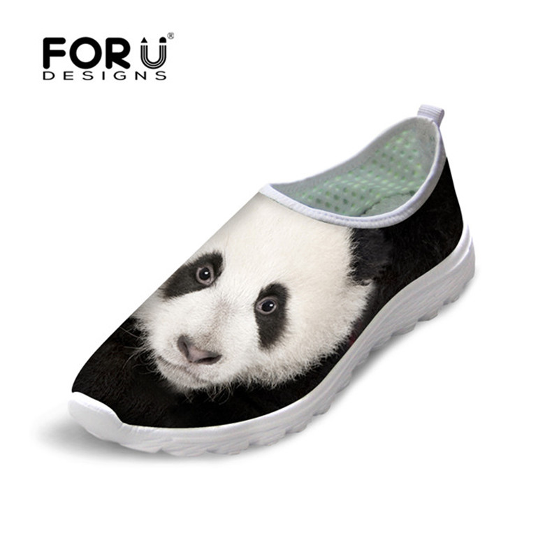 FORUDESIGNS Women Breathable Casual Shoes, Summer Mesh Shoes for Woman,Animal Print Female Flat Ladies Walking Flats Shoes instantarts cute cartoon pediatrics doctor print summer mesh sneakers women casual flats super light walking female flat shoes