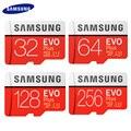 Samsung evo plus cartão de memória 256 gb de alta velocidade 100 mb/s micro sd classe 10 u3 tf cartões UHS-I 128g 64 gb 32 gb cartão micro sd