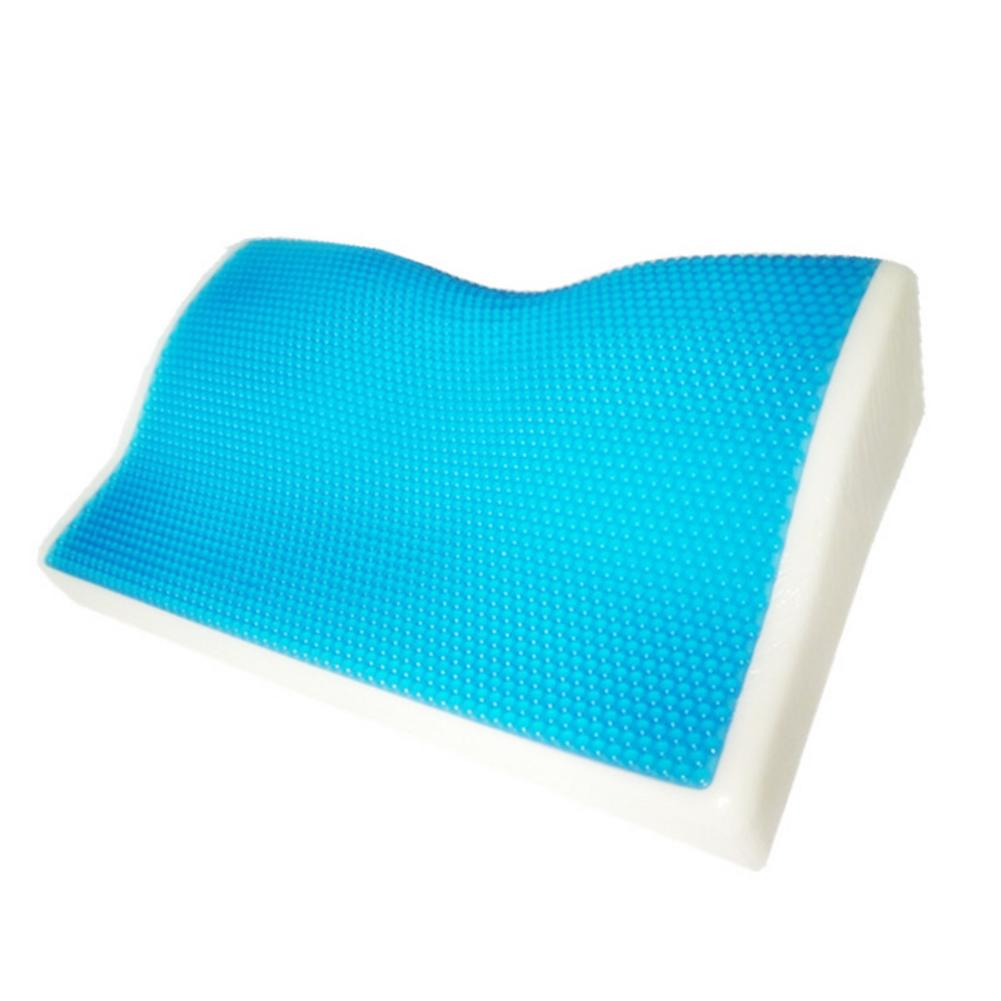 Image 5 - 1 Pcs Memory Foam Cool Gel Pillow Summer Ice cool Anti snore Neck Orthopedic butterfly silicone Sleep Pillow Cushion For Home-in Bedding Pillows from Home & Garden