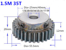 2pcs Spur Gear pinion 1.5M 35T 1.5 mod gear rack 35teeth bore 6-20mm 45teel cnc pinion teeth high frequency quenching spur gear pinion 1m 60t 60teeth mod 1 width 10mm bore 10mm right teeth 45 steel positive gear cnc gear rack transmission rc