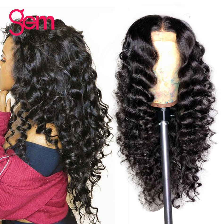 Lace Front Human Hair Wigs Brazilian Loose Deep Wave Lace Front Wigs Pre plucked with Baby