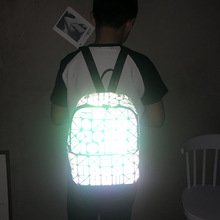цены 2019 Rucksack Unisex Backpack Sac A Dos Travel Laptop Backpack Back Bag Pack Geometric Luminous School Backpack Bag For Teenages