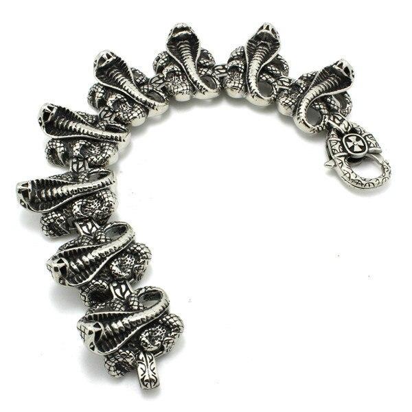 Hot!! Fast Shipping Cobra Amazing Snake Bracelet 316 Stainless Steel Hot Sale Cool Cobra Bracelet