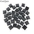 Крутая механическая клавиатура Jazz dsa pbt Cherry mx  колпачки для клавиатуры 1u  смешанный цвет  черный  серый  красный esc  игровая механическая клави...