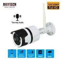 DAYTECH IP Kamera Im Freien Sicherheit WiFi CCTV P2P Kamera IP66 Wasserdicht Zwei Weg Audio Aufzeichnen Netzwerk Monitor-in Überwachungskameras aus Sicherheit und Schutz bei