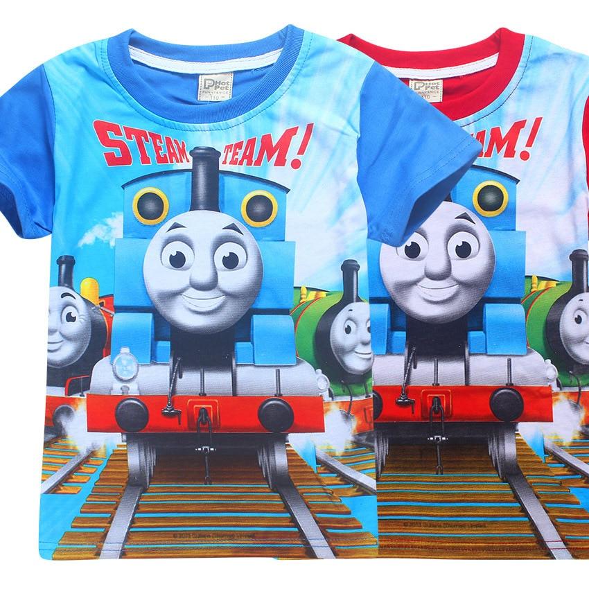 Boy T-shirt Kids Tops Thomas and friends Baby Clothing Little Boy Summer Shirt Tees Designer Cotton Cartoon tomas train Clothes комбинезон утепленный little boy little boy mp002xg006ex