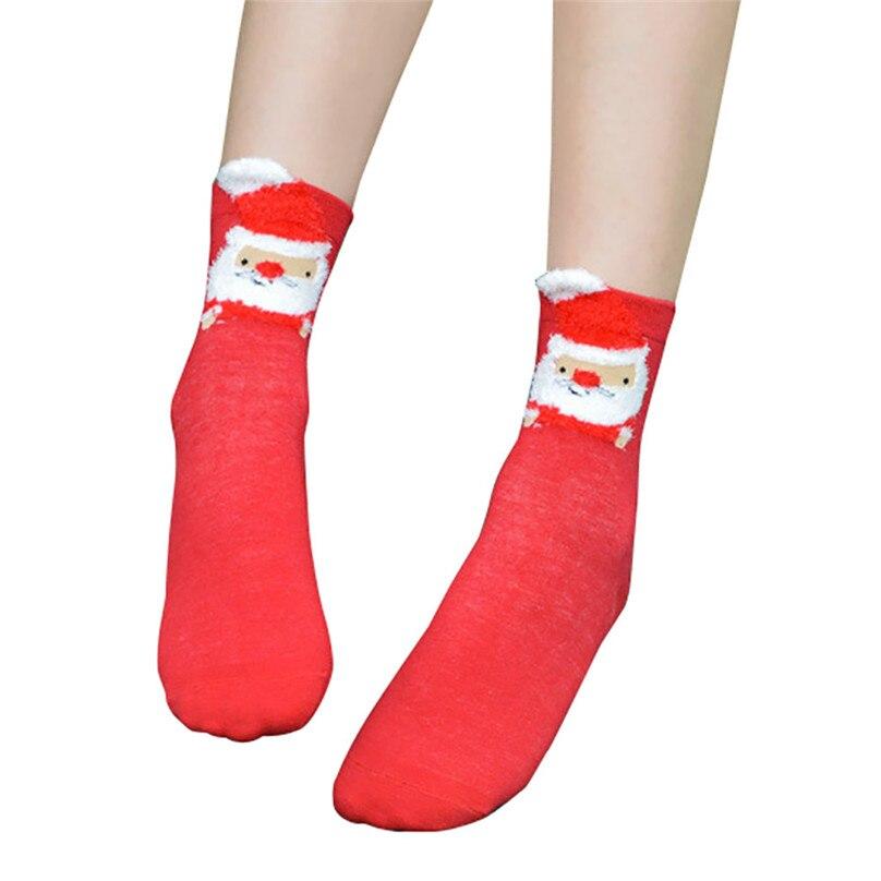 Christmas Women Girl Casual Socks Cotton Women Warm Socks Printing Cute Casual Socks For Christmas Gift Wholesale 30OT15 (1)