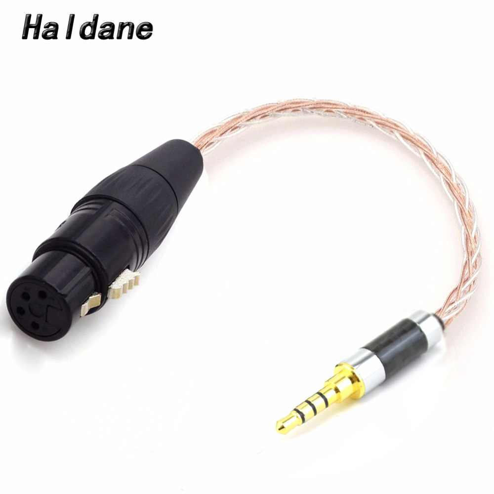 Free Shipping Haldane 3 5mm Trrs Balanced Male To 4 Pin Xlr Balanced Female 7n Occ Copper Silver Plated Adapter Cable Aliexpress
