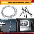 """1 unids en forma de u 300 CM 120 """" Car Chrome Silver aire acondicionado interruptor de ventilación parrilla Door Edge Moulding recortar decoración de gaza"""