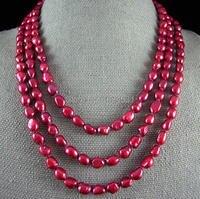 Parel ketting 64 inches 7-8mm aa rode kleur natuurlijke barokke zoetwaterparels lange ketting groothandel sieraden