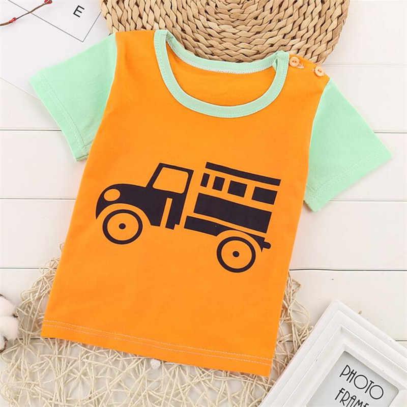 2019 для маленьких мальчиков и девочек футболка на лето для мальчиков младенцев девочек короткий рукав Детские футболки из хлопка детские топы футболки 23 стиля