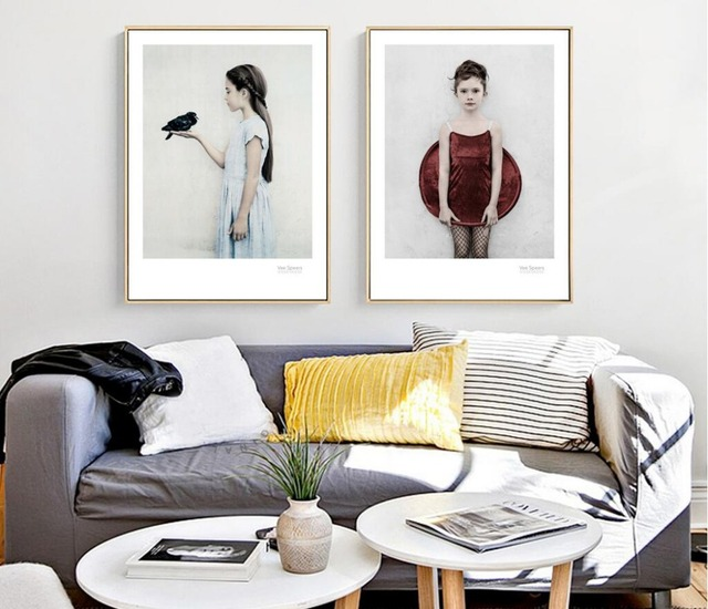 Cuadros Nature Girl Wall Art Canvas Painting Posters And Prints