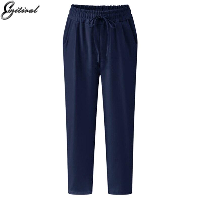 909da979bca 2017 Summer Plus Size 5XL Casual Loose Stretch Women Palazzo Pants Harem  Style Elastic Female Slack Sweatpant Trousers Capris -in Pants   Capris  from ...