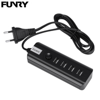 EU Plug Funry USB Mini Charger 5V 4 USB Ports Input 110V 250V Extension Power Adapter