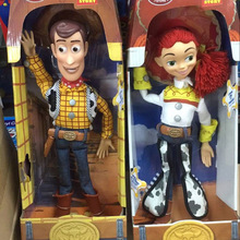Anime figure Toy Story 3 PVC Action figure Jessie/Woody 36 cm Collection Model Kid toy Electrified With Voice RETAIL BOX JK-0019