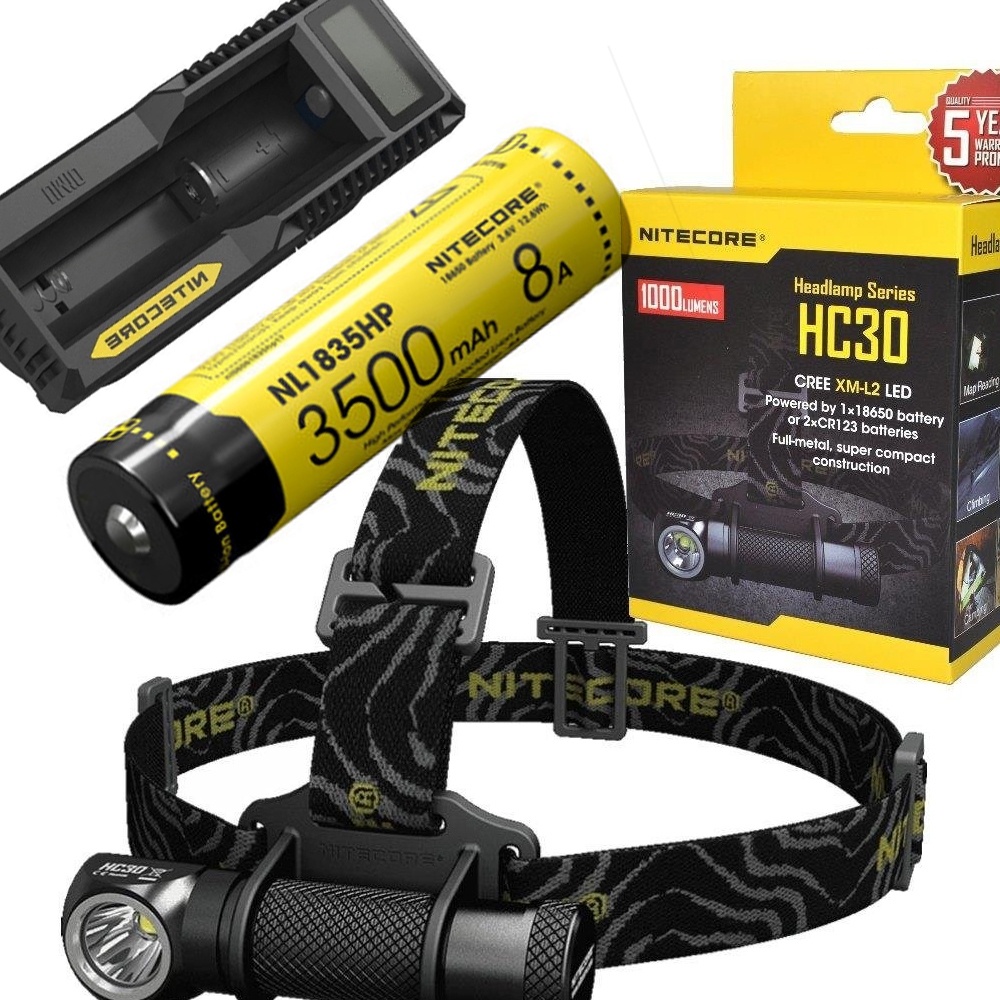NITECORE HC30 HC30W Headlamp CREE XM-L2 U2 1000LM Waterproof Flashlight Torch with 18650 NL1835hp Battery and um10 nitecore p20 flashlight cree xm l2 u2 led max 800lm led torch for outdoor sports 3500mah 18650 battery and um10 charger