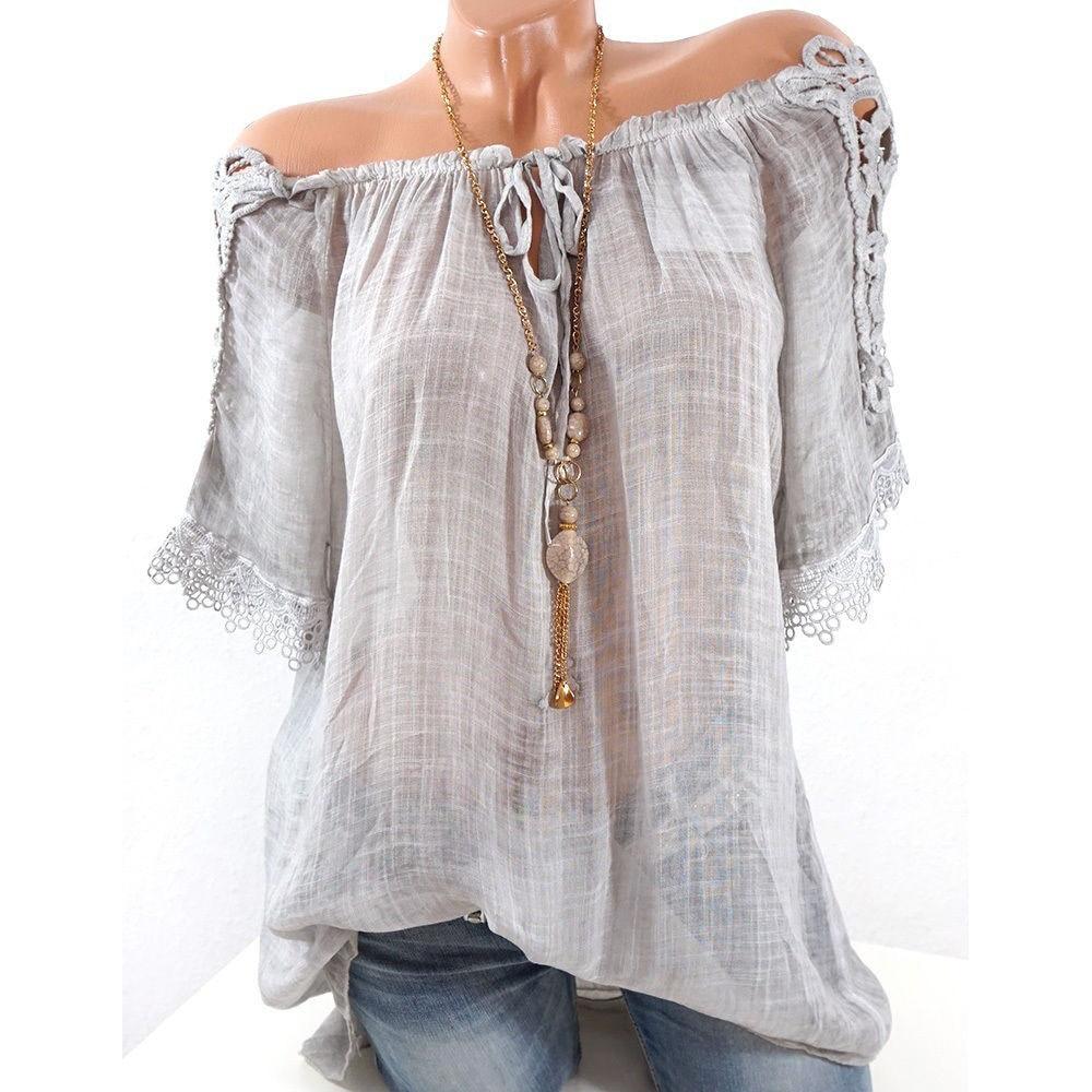 Fashion T Shirt Women Top Tee Harajuku T-Shirt Off Shoulder Top Blusas Feminina Vintage Clothes Elegant Summer Plus Size 4XL 5XL