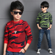 2016 Dongkuan big virgin boy boys camouflage clothing camouflage sweater children sweater baby clothing US Size