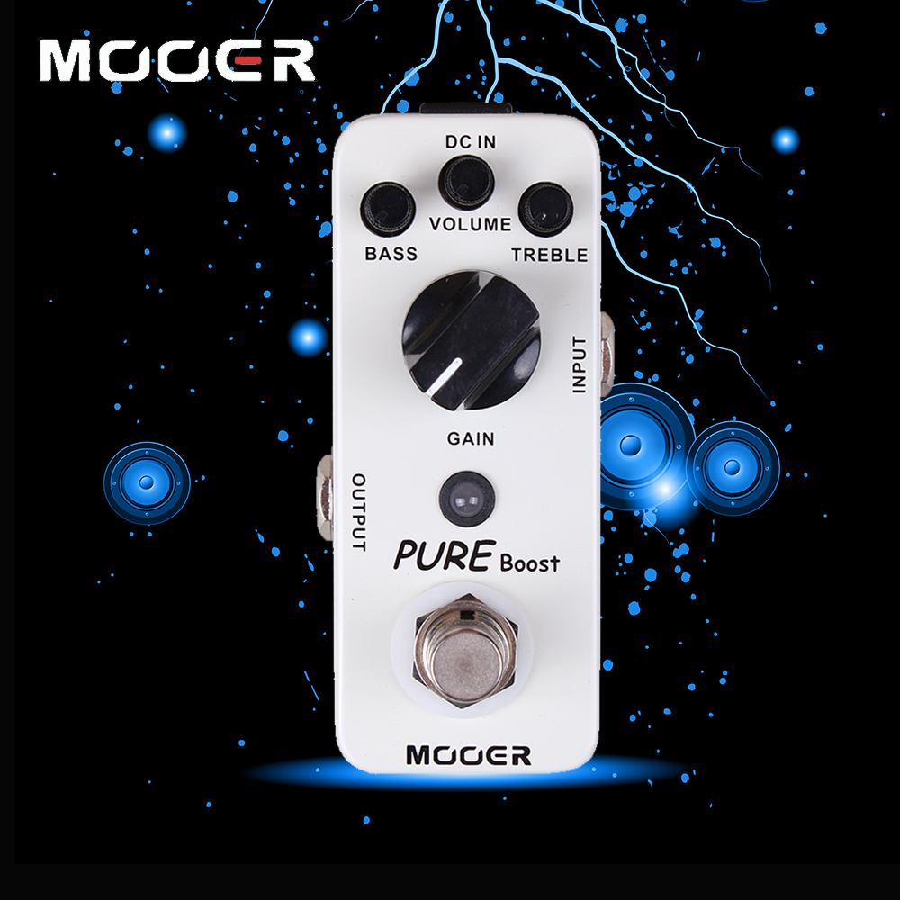 Mooer Aluminum Alloy 2 Band EQ Pure Boost Electric Guitar Effect Pedal True Bypass 20 dB Clean Boost diy booster boost clean guitar effect pedal boost true bypass booster kits fp