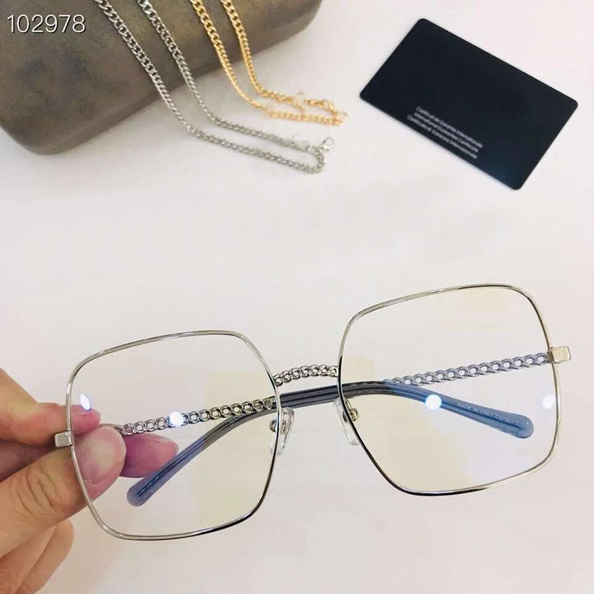Frau Gray Transparente Sams Brille pink light brown Dekoration Brillen amp; navy So silver Platz gold Kette chocolate Metall Rahmen Grey Große Retro Marke Designer 0qZ0Erw