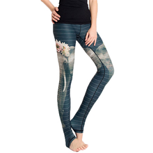 2017 Multicolor Stripe Printing Women's Leggings Sexy Black Push Up Slim Pants Force Exercise Elastic Dry Quick Fitness Leggings