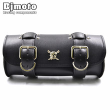 цены BJMOTO Universal Motorcycle Saddlebag Driving Riding Cycling Biker Motorbike Side Tool Pouch Tail Black Bag for Harley Motocross Bags