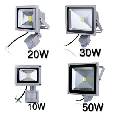 LED Flood Light search projector lamp 10W 20W 30W 50W AC85-265V PIR Motion sensor Sense detective Sensor lamp IP65 Waterproof free dhl fedex 85 265v 10w 20w 30w 50w 70w 100w pir led floodlight with motion detective sensor outdoor led flood light spot