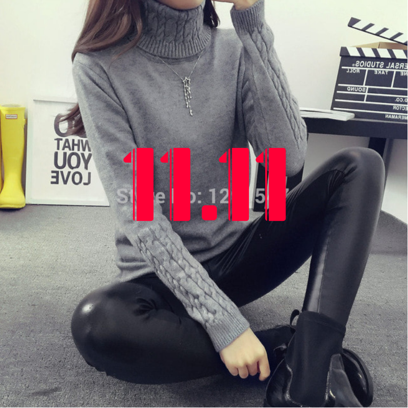 Hot 2018 Spring Autumn Women Sweaters and Pullovers Fashion turtleneck Sweater Women twisted thickening slim pullover sweater