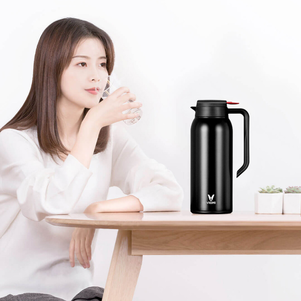 Xiaomi Mijia Thermos Cups 1.5L Stainless Steel Vacuum Thermos Bottle 24 Hours Flask Thermal Smart Insulation Water Kettle (4)