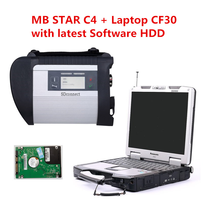 US $740 05 5% OFF|High Quality Mb star c4 201903 Vediamo/DTS  Monaco8/Xentry/DAS/EPC/WIS+Panasonic Military Laptop CF30 MB Star SD  Connect c4 Wifi-in