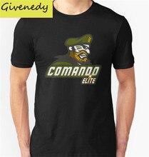 Free shipping Fashion Design Men's T Shirt Comando Elite Printed 2016 Summer Short Sleeve 100% Cotton Tops Casual Tee T Shirts
