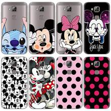 Case for Fundas Huawei G8 Case Cartoon Cute TPU Patterned Luxury Transparent for