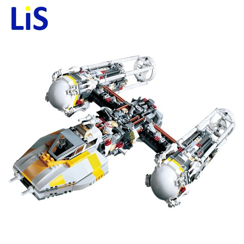 Lis 05040 1473Pcs Y-wing Attack Starfighter Model Building Blocks Bricks Toys Kids Gifts Compatible legoingly 10134 lepin 05040 y attack starfighter wing building block assembled brick star series war toys compatible with 10134 educational gift