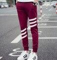 Новые Люди Спортивная брюки бегунов мужчины Повседневная Эластичный хлопок Мужские Фитнес-Тренировки Брюки тощие Штаны Брюки Jogger Брюки