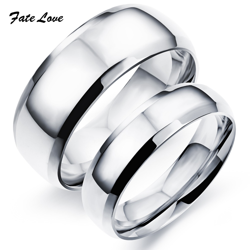 BK stainless steel wedding bands Amazon com VALYRIA Jewelry My Love Cubic Zirconia Stainless Steel Wedding Band Anniversary Engagement Promise Couple Ring Jewelry