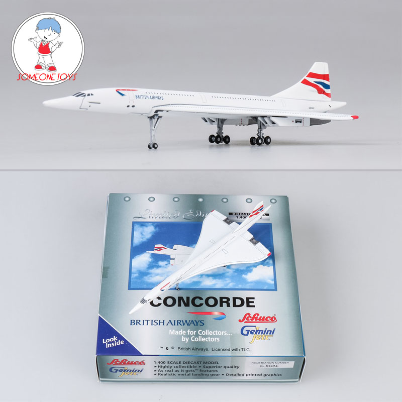 1/400 Scale British Airways Concorde Metal Alloy Airplane Model 16cm UK Air Plane Model Toys For Collectors Kids Birthday Toys image
