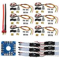 F04997 C JMT Assembled Kit: 30A ESC + Motor + KK ESC Connection Board Connectors Dean T Plug Wire for 6 Aix Drone Hexacopter