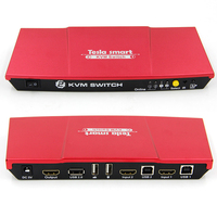 New High Quality 2 Port USB KVM HDMI Switch With IR Remote Extra USB 2 0
